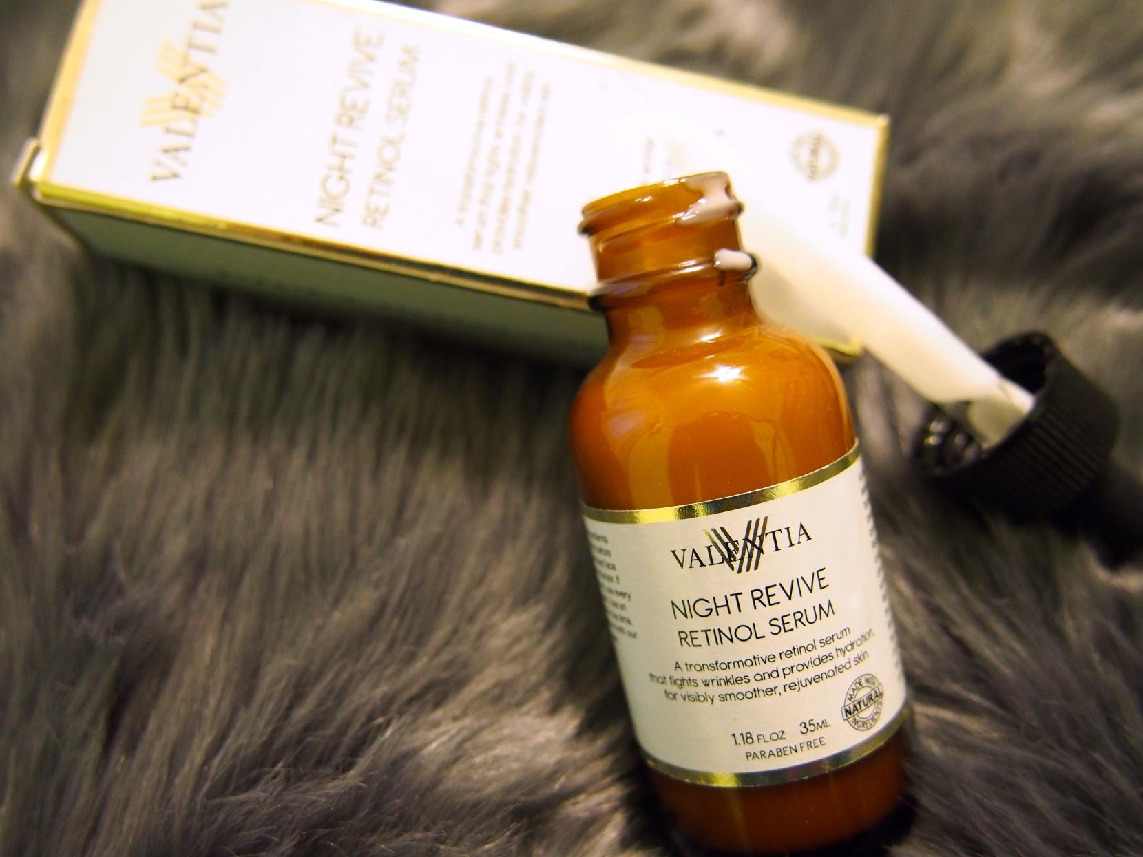 Valentia Night Revive Retinol Serum Product Review