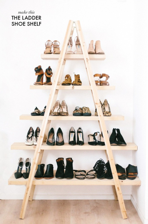DIY Shoe Shelf by A Pair & A Spare