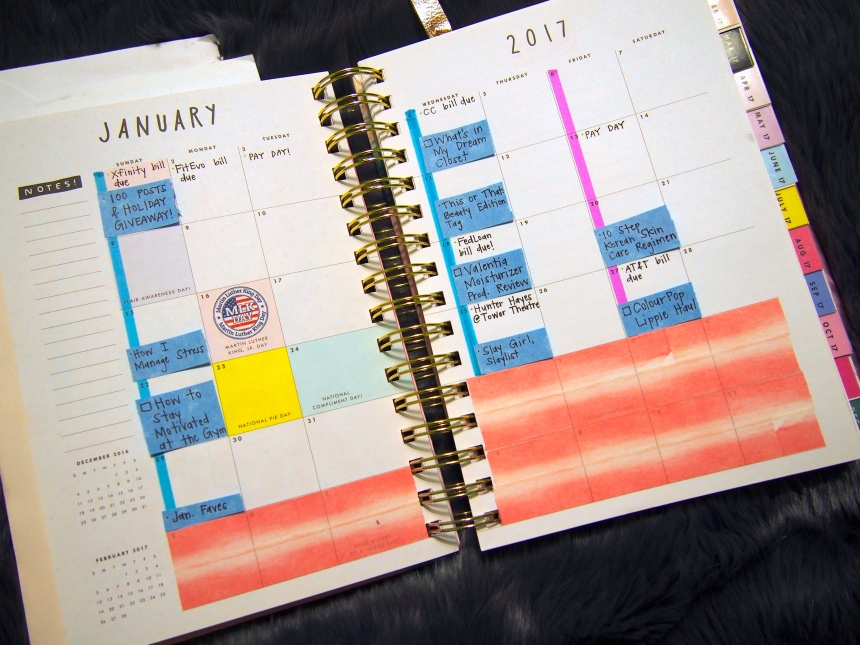 January 2017 Plan With Me: Monthly View