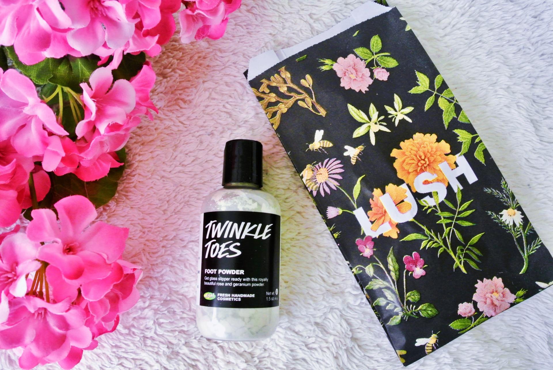 Lush Cosmetics Spring Mini-Haul // Twinkle Toes Foot Powder