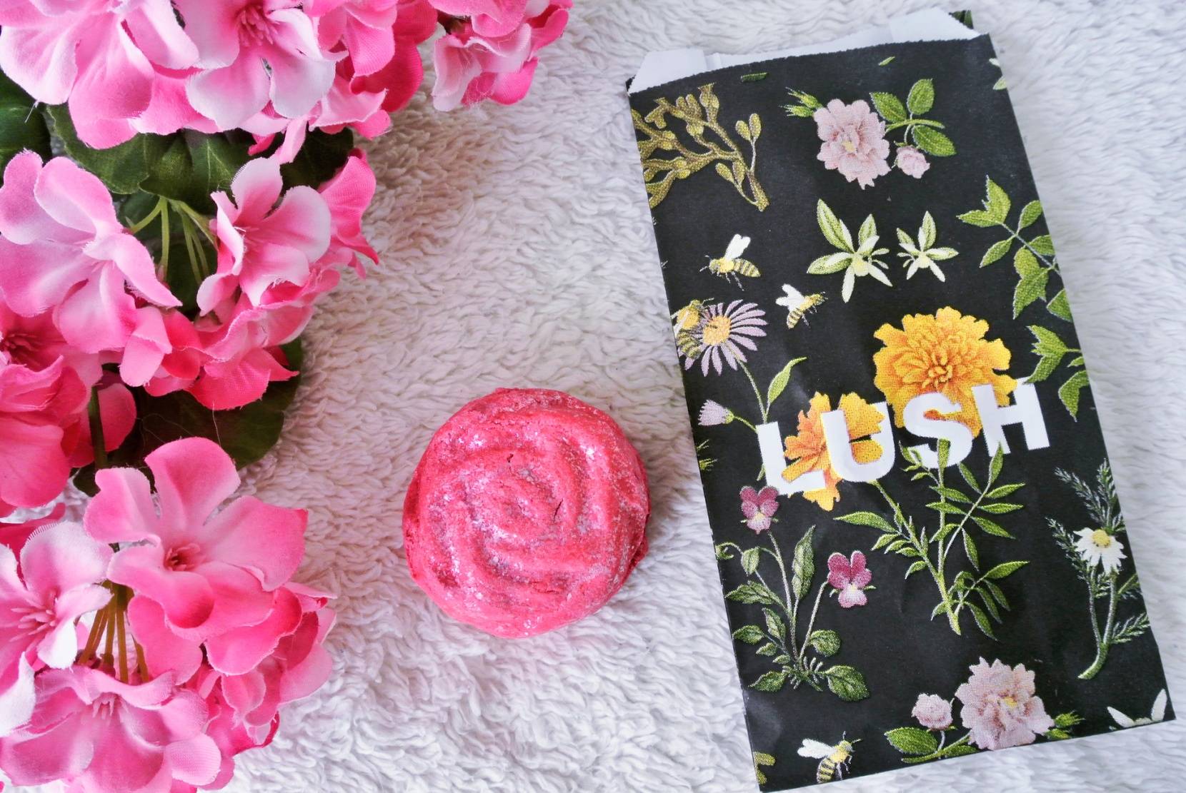 Lush Cosmetics Spring Mini-Haul // Rose Jam Bubbleroon