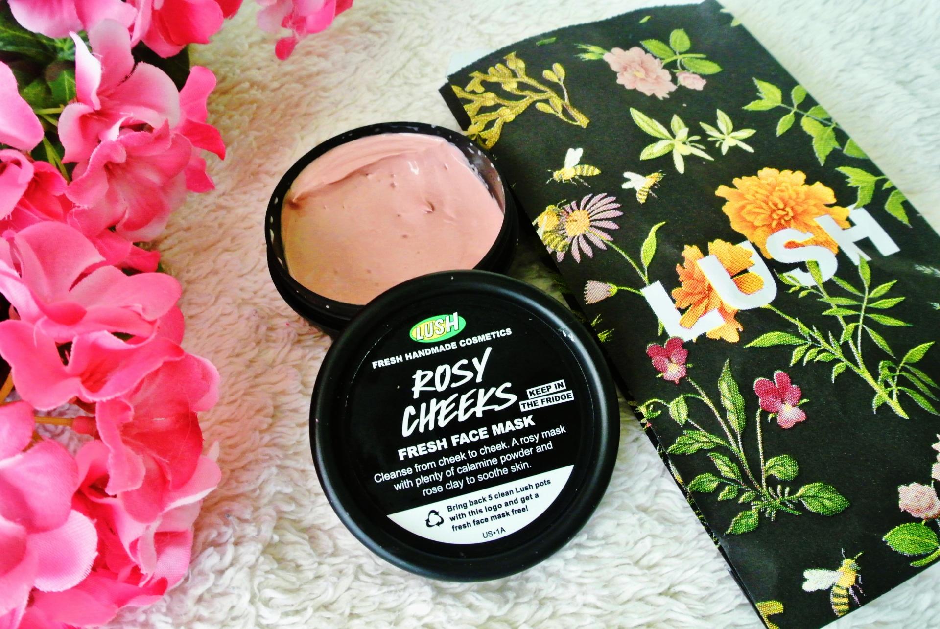 Lush Cosmetics Spring Mini-Haul // Rosy Cheeks fresh face mask
