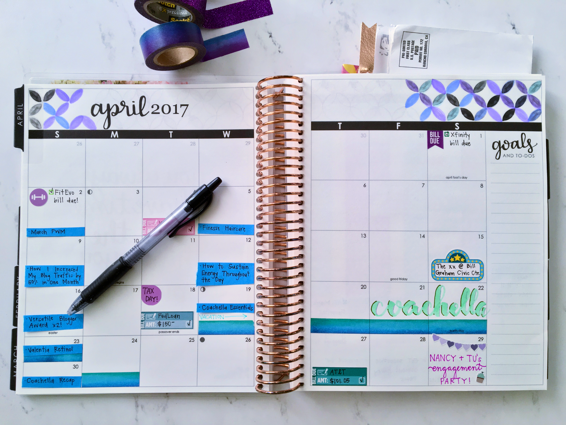 April 2017 Plan With Me // Monthly View