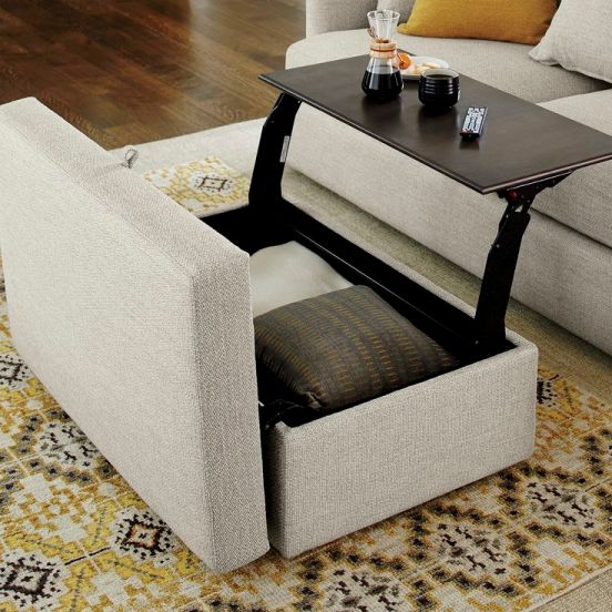 Dream Dressing Room: Lounge II Storage Ottoman from Crate & Barrel