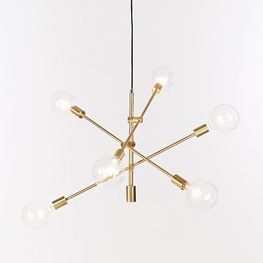 """55"""" Antique Brass Mobile Chandelier from West Elm"""